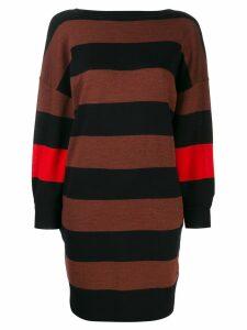 Victoria Victoria Beckham striped jersey dress - Blue