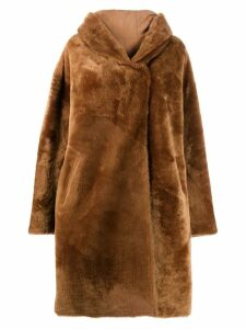 Liska Chiron reversible oversized coat - Brown