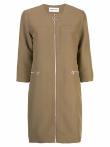 Partow zip up dress - Brown