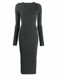 Dsquared2 ribbed knit long dress - Grey