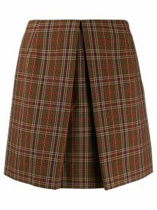 Mm6 Maison Margiela check mini skirt - Brown