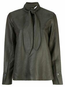 Partow neck-tie blouse - Green