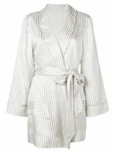 Kiki De Montparnasse striped robe - White