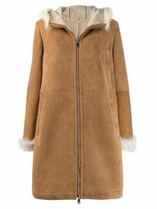 Liska hooded coat - Neutrals