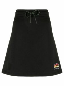 McQ Alexander McQueen side stripe A-line skirt - Black