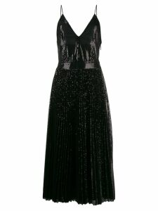 MSGM sequin pleated maxi dress - Black