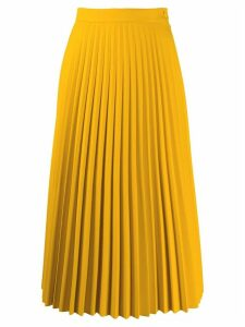 Mm6 Maison Margiela pleated skirt - Yellow