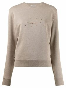 Saint Laurent stars print sweater - Neutrals