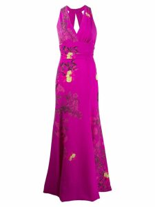 Etro floral evening gown - Purple
