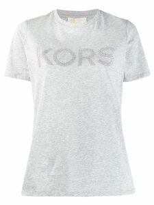 Michael Michael Kors studded logo T-shirt - Grey