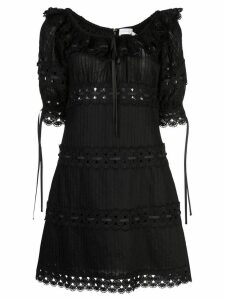 Zimmermann Honour pintuck panelled dress - Black