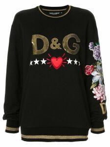 Dolce & Gabbana embellished logo sweatshirt - Black