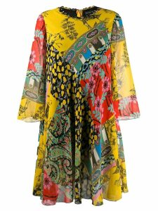 Etro oversized printed dress - Yellow