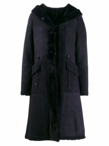 Liska hooded coat - Blue