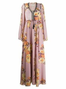 Etro floral print long dress - Pink