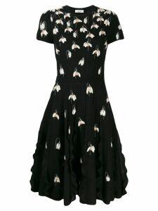 Valentino snow drop knitted dress - Black
