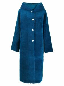 Liska hooded oversized coat - Blue