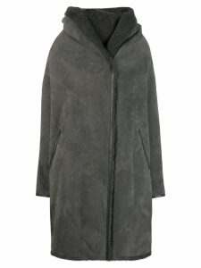 Liska Chiron reversible oversized coat - Grey
