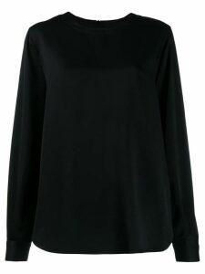 Joseph long-sleeve flared blouse - Black
