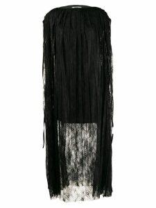 Mm6 Maison Margiela pleated lace dress - Black