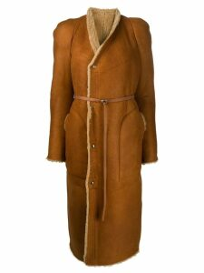 Rick Owens belted coat - Orange