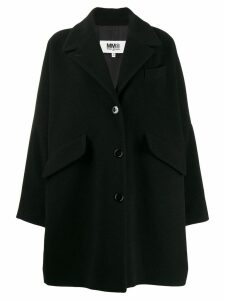 Mm6 Maison Margiela oversized coat - Black