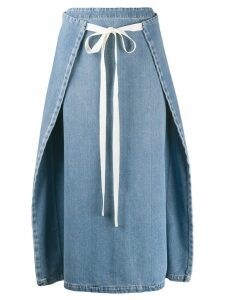 Mm6 Maison Margiela dual-wear denim skirt - Blue