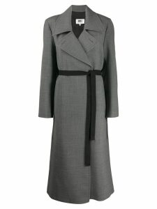 Mm6 Maison Margiela techno-wool coat - Grey