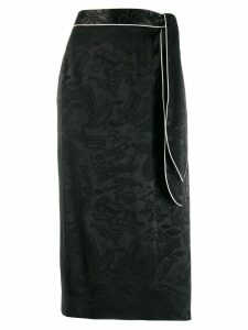 Alexa Chung all-over print skirt - Black