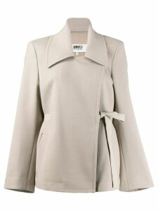 Mm6 Maison Margiela oversized belted blazer - Neutrals