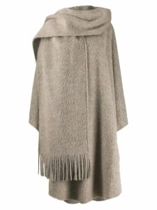 Mm6 Maison Margiela mohair scarf coat - Neutrals