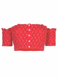 Alexis Ghada crop-top - Red