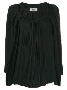 Mm6 Maison Margiela pleated cape blouse - Black