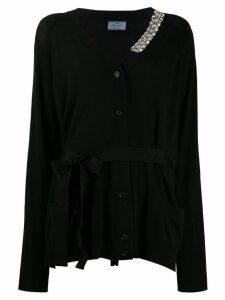 Prada crystal embellished cardigan - Black