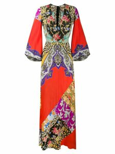 Etro printed maxi dress - Red