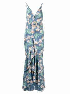 Patbo belted maxi dress - Blue