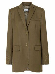 Burberry Press-stud Wool Twill Tailored Jacket - Brown