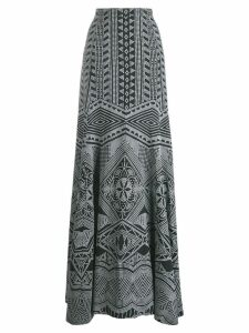 Antonio Berardi long embroidered skirt - Black