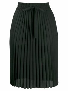 Red Valentino pleated midi skirt - Black