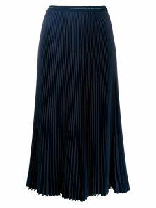 Prada midi pleated skirt - Blue