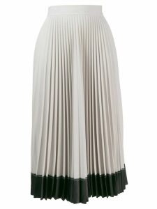 Givenchy contrast hem pleated skirt - Grey