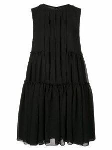 Vera Wang pleated shirt dress - Black
