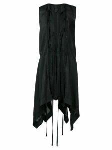Vera Wang plunge mini dress - Black