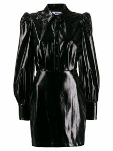 MSGM puff-sleeve dress - Black