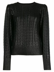 MSGM metallic cable knit sweater - Black