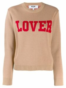MSGM knitted sweatshirt - Brown