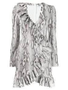 MSGM snakeskin print dress - NEUTRALS