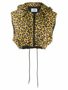 MSGM leopard-print gilet - Yellow