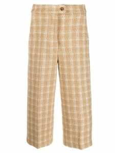 MSGM knitted-style checked trousers - Neutrals