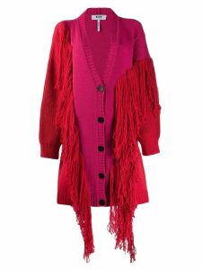 MSGM fringed cardigan coat - Pink
